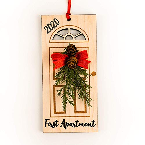 First Apartment Ornament 2020 - Christmas Gift for New Grad - Handmade Holiday Decor for Couple