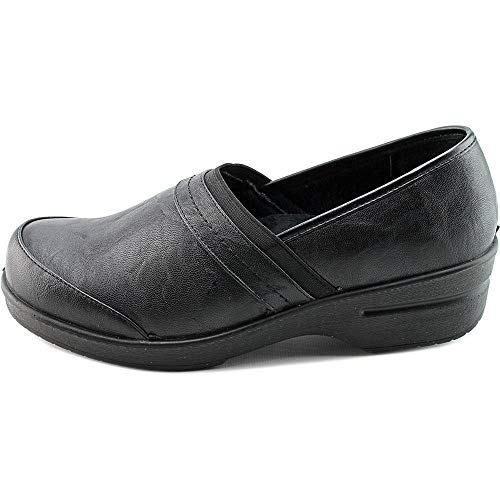 Easy Street womens Origin clogs and mules shoes, Black Smooth, 9 Narrow US