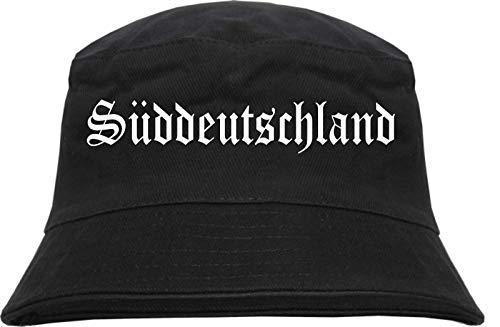 HB_Druck Süddeutschland Fischerhut - Bucket Hat Schwarz L/XL (58cm)
