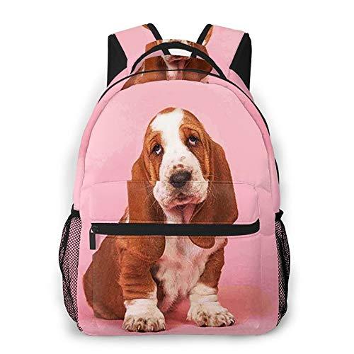 Mochilas Escolares, Cachorro Basset Hound 1 Mochila Niños Chicas Casual Mochila para...