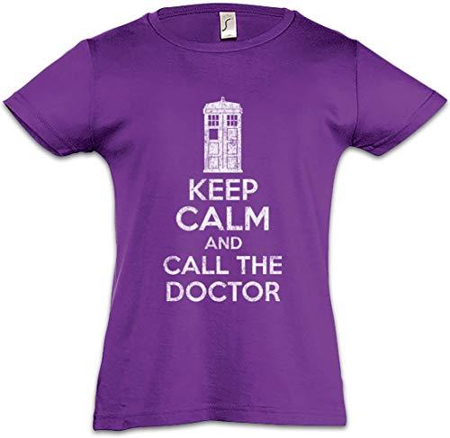 Urban Backwoods Keep Calm and Call The Doctor Mädchen Kinder Kids T-Shirt Violett Größe 12 Jahre