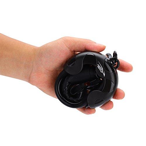 Weikeya Tubo de Buceo, diseño de patrón líquido Seguro de Calidad de Silicona (Negro)