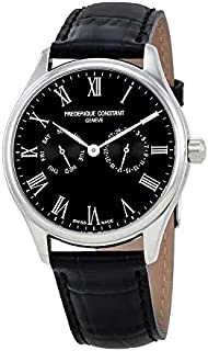Frederique Constant Classics Black Dial Leather Strap Men's Watch FC-259BR5B6