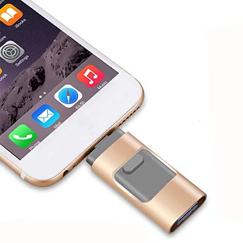 maxineer USB Stick 64GB für iPhone Externer Speicher Speichererweiterung USB 3.0 Speicherstick Kompatibel für iOS iPod iPad Handy OTG Andriod Computer Laptop PC (64GB)