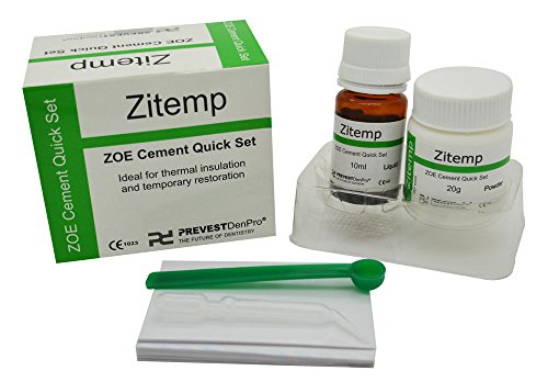Dental Quick Set Zinc Oxide - Eugonel Cement ZITEMP Powder & Liquid Kit