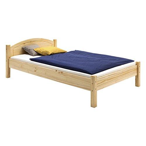 IDIMEX Holzbett Einzelbett Doppelbett Marie Bett 100 x 200 cm (B x L) Kiefer massiv Natur lackiert