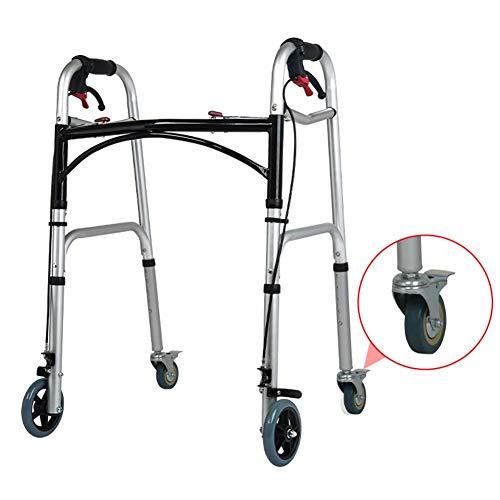 YXX- Rollator Gehhilfen Senioren Innen Rollator Walker Für Ältere Menschen, Senioren Und Erwachsene - Medizinische Aluminium-Walker Mit 4 Rädern Und Handbremse, Last 150 Kg Gehwagen