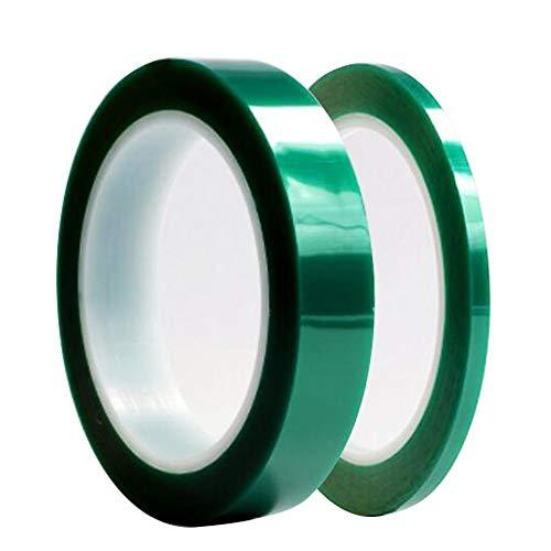 Limeow groene PET zelfklevende tape hoge temperatuur hittebestendig hoge temperatuur hittebestendig hoge temperatuur bestendig lijm tape voor PCB solderen lassen reparatie printplaat 2 banden