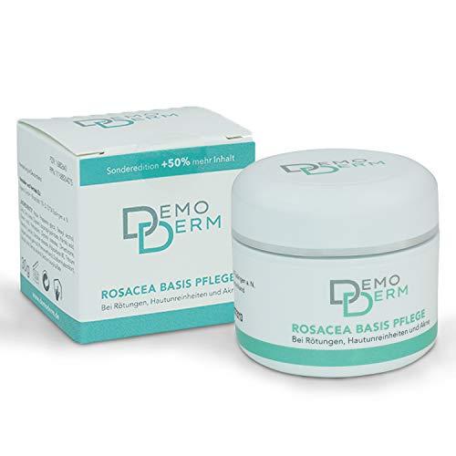 DEMODERM Basis Creme wohltuend bei Rosacea, Pickel, Akne und geröteter Haut - 30 g Creme zur Gesichtspflege - Salbe enthält Zink und Schwefel - Hergestellt in Deutschland