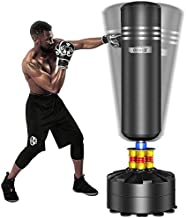 Dripex Freestanding Punching Bag 69''- 182lb Heavy Boxing Bag with Suction Cup Base for Adult Youth - Men Stand Kickboxing Bags Kick Punch Bag | Black