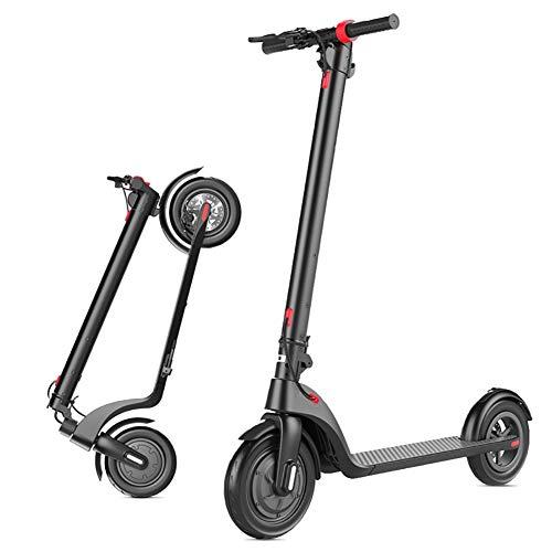JLWDD Best Sporting Scooter High Class, inklapbare City draagriem, ergonomisch stuur, handrem trapscooter in zwart
