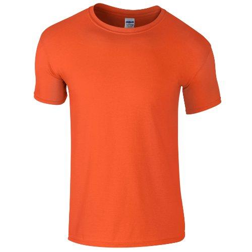 Gildan - Camiseta básica de manga corta Unisex Estilosa Suave Niños Niñas - Verano/Calor (XS/Naranja)
