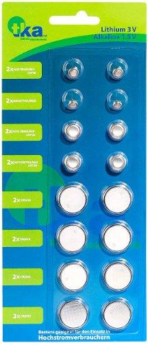 tka Köbele Akkutechnik Knopfbatterie: Knopfzellen-Sortiment, 8 x 2 Stück (Knopfzellen für Armbanduhren)