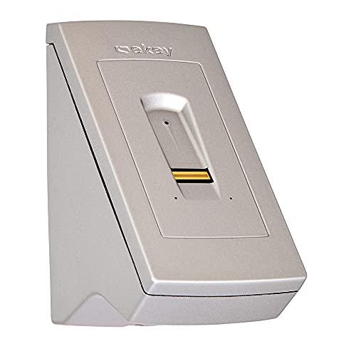 ekey home Fingerscanner Aufputz 2.0 zur Aufputzmontage an der Wand in Stahlgrau - Fingerprint zum Öffnen von Türen (Passende Steuereinheit und Netzteil notwendig)