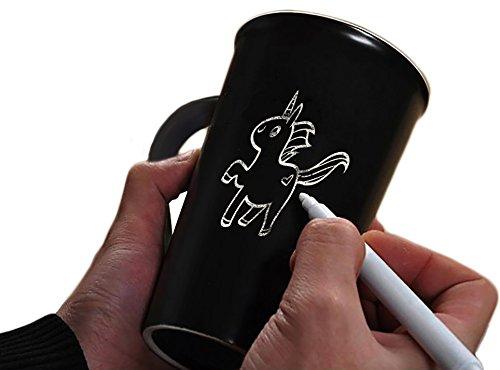 Iris&Boreas [Taza pizarra Personalizada] con [bolígrafo blanco] para Escribir Mensajes, Palabras o Dibujar [Mug Personalizable], Idea regalo original para colega, amigo, hombre, mujer, papá y mamá