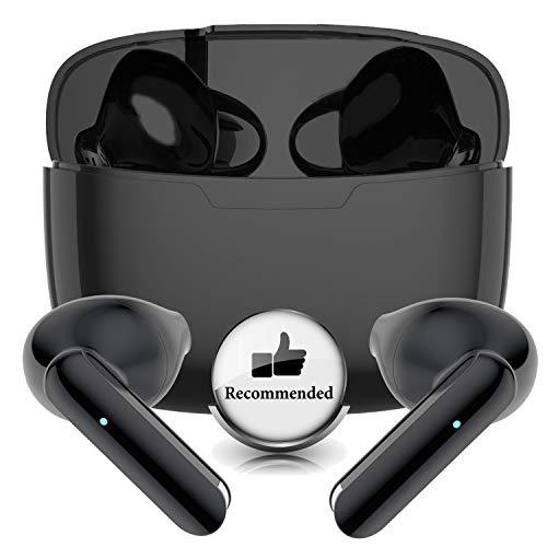 Auriculares Inalámbricos, Auriculares TWS Bluetooth 5.1 con microfono,HiFi Estéreo,Control Táctil,Cancelación de Ruido,IPX5 Impermeable,In-Ear Bluetooth para iPhone/Android/Samsung/Apple AirPods Pro
