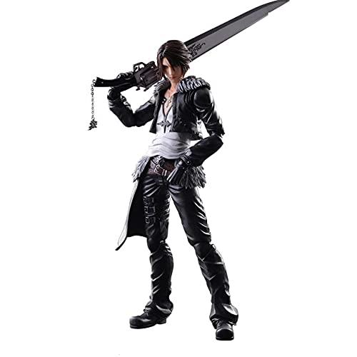 ZEwe Giochi elettronici Modello Final Final Fantasy 8 Play Arts Kai Squall Leonhart con la Sua Figura d'azione di Gunblade
