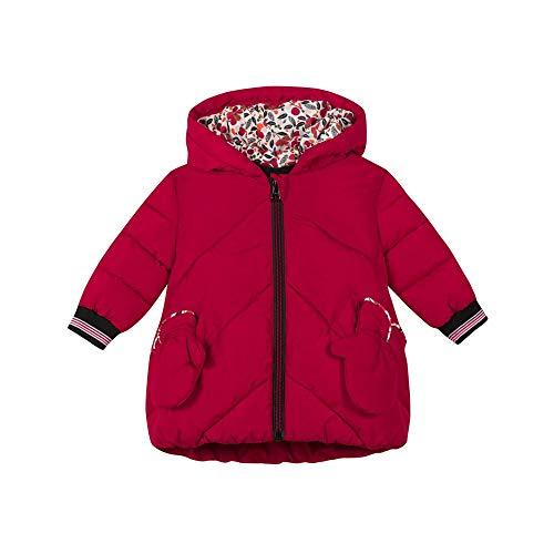 catimini Baby-Mädchen Parka + Moufles-rouge Fille Fleece-Jacke, 3A