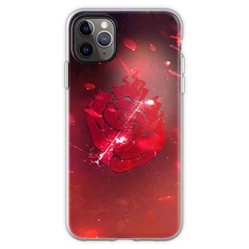 Gladiour Compatible con iPhone 11 12 Pro Max XR 6/7/SE 2020 caso A roto Rose Pure Clear Teléfono Carcasas a prueba de golpes cubierta de protección