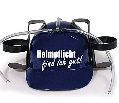 Trinkhelm Spaßhelm mit Printmotiv - Helmfplicht find ich gut - 11844 - versch. Farben zur Wahl Farbe blau