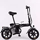 XCBY Electric Mobility Tricycle?Foldable & Portable Electric Bicycle,Electric Scooter Adults? Max 500W Motor,45KM Long Range, with Led Light and Display Black