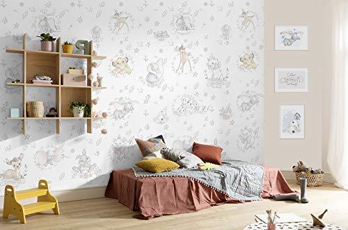 Komar Disney Fototapete Best of Friends | Größe 200 x 280 cm, Kinderzimmer, Babyzimmer, Dekoration, Tapete, Baby