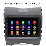 HP CAMP GPS Navigation For Ford EDGE 2015-2020 Car Stereo Head Unit GPS Navigation Stereo 9 Inches Andriod USB Mirror Link Steerling Wheal Control WiFi 4G FM,Wifi 1G+16G