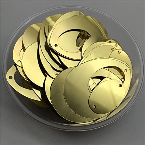 50g Ologramma piatto ovale Egg Orecchini Forma PVC sciolto Paillettes Paillettes cucito Wedding Craft & Decorazione Per Panno