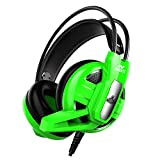 Ant Esports H520 W Wired Gaming Headset - Green I for PC /