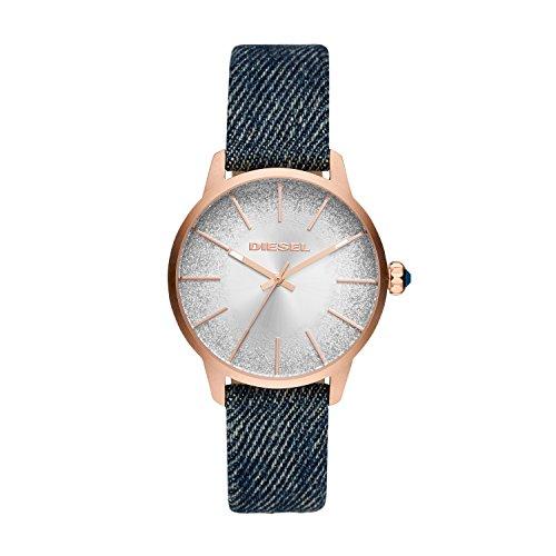 Diesel Damen Analog Quarz Uhr mit Stoff Armband DZ5566