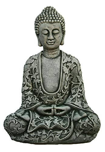 Lotus Buddha Home and Garden Statues Cement Asian Figurines
