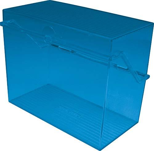 Helit H6904640 - Tarjetero A6 de plástico, color azul transparente