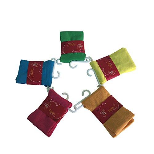 The New York Doll Collection Set mit 5 solide farbigen Strumpfhose Strumpfhosen für 18 Zoll / 46 cm Modepuppen - Gamaschenhose - PuppenKleidung Zubehör