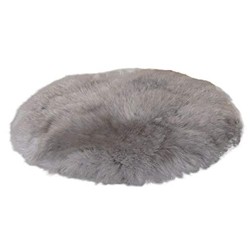 Round Floor mat Soft Washable Artificial fur Carpet Runner Floor Chair Bed Carpet Home Decor Suitable for Bedroom Living room-30cm_LGY