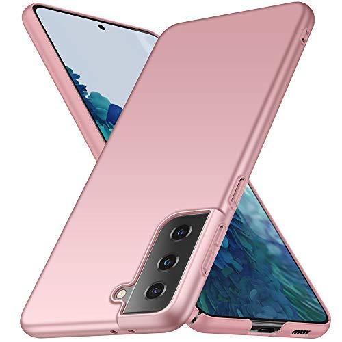 none-branded Avalri Funda Samsung Galaxy S21 Diseño Minimalista Estuche Rígido Ultra Delgado de PC a Prueba de Golpes Resistente a Rasguños Cover para Samsung Galaxy S21 (Oro Rosa)