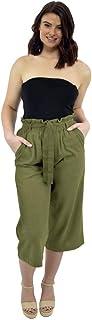 comprar comparacion CityComfort Pantalones De Lino para El Verano | Longitud De 3/4 | Pantalones Mujer De Traje De Fiesta | Pantalones Cargo c...