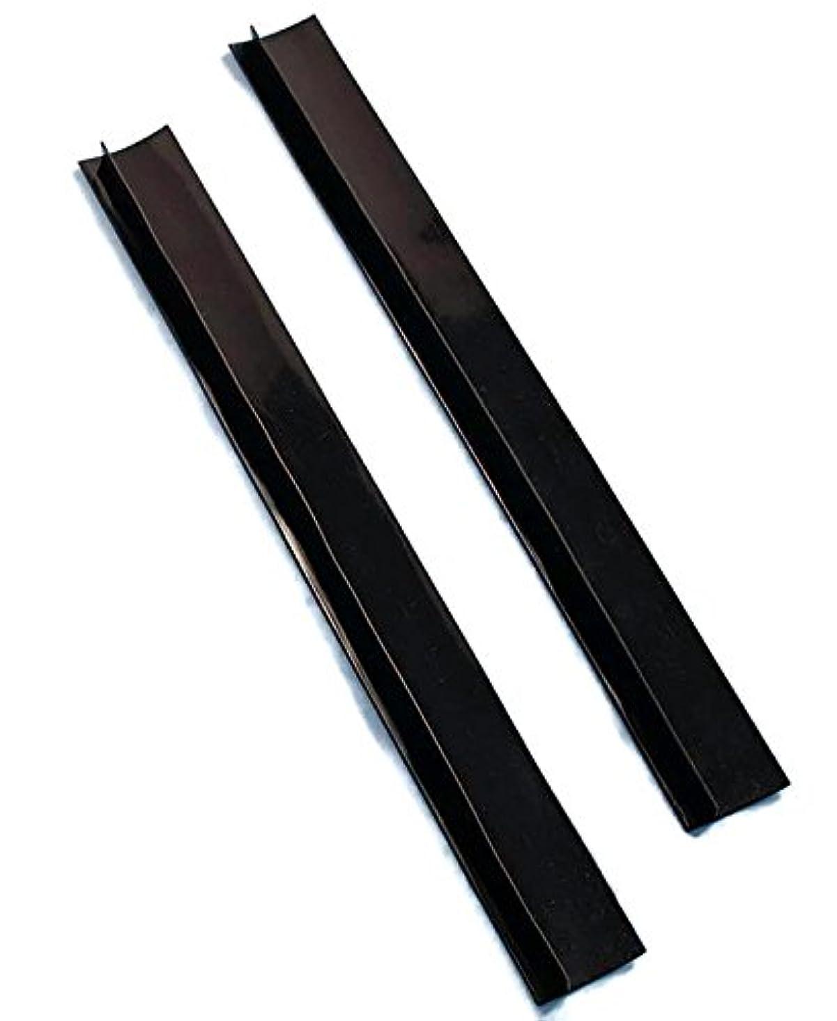 仲介者エレベーター強制Set of 2 Black Silicone Counter Gap Covers by LTD Commodities