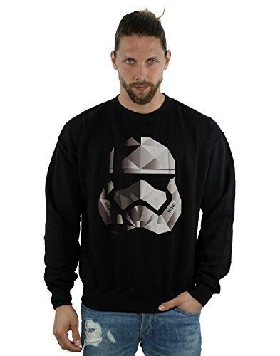 Star Wars Hombre The Last Jedi Stormtrooper Mono Cubist Helmet Camisa De Entrenamiento Large Negro