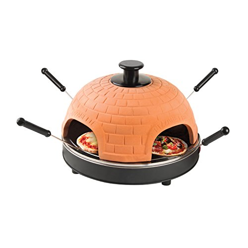 Global Gourmet Electric Tabletop Pizza Maker Oven - Cook Delicious Pizza in Under 10 Minutes at Your Dinner Table - 60 Day Money Back Guarantee