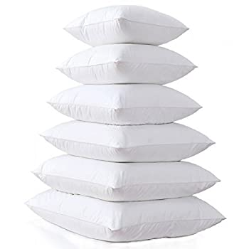MoonRest Square Pillow Form Insert Hypoallergenic Sham Stuffer 100% Polyester Microfiber Fill Lined with Woven Cotton Blend Cover for Decorative Pillow Couch Sofa Bed Cushions 19 X 19