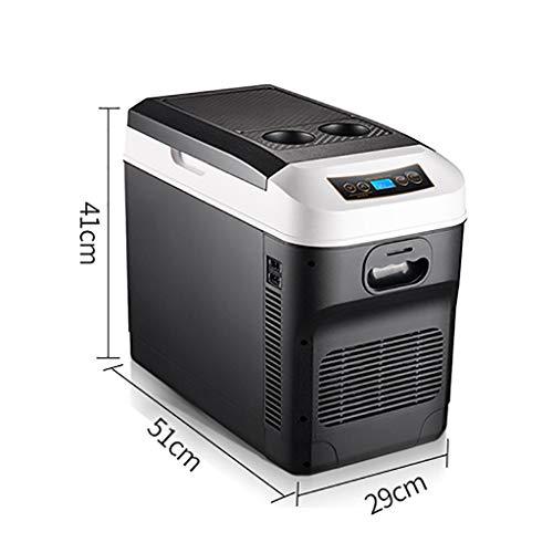 YXWbx Neveras de Viaje 28L portátil pequeño compresor del refrigerador del Coche del vehículo Nevera Congelador/Calentador - Ideal for Acampar, Picnic, Playa (Color : Black)