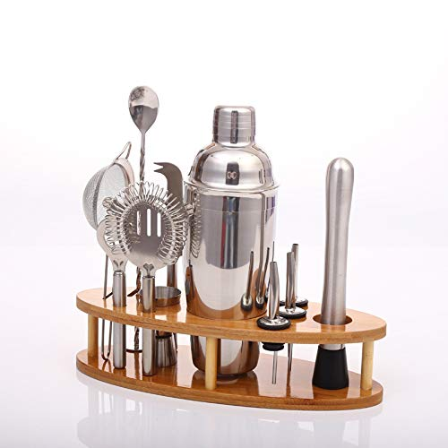 Suppyfly Barkeeper Kit Cobre beschichtetes Rotgold Acero Inoxidable Bar Set con Caballete Cocktail Maker Set