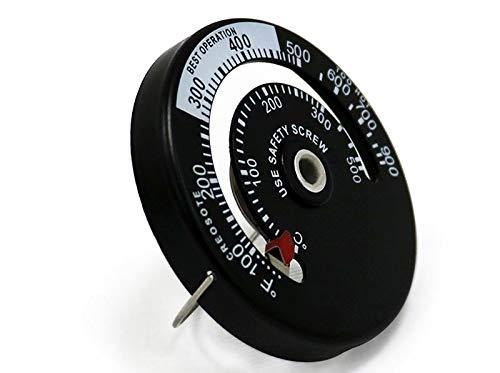 Kachelpijp thermometer - magnetisch - kachelthermometer/rookpijp thermometer