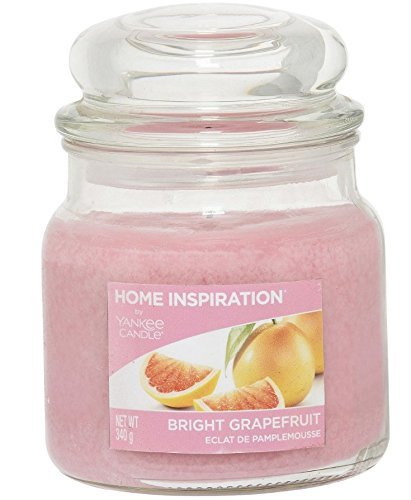 LITTLEBIGTREATS Home Fragrance & Flavored Scented Refreshing Perfume Candle Long Hours Burning Scented Candle Jar (340g. Bright Grapefruit)