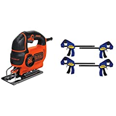 Curve Control technology which allows you to adjust the saw's orbit in 1 of 4 customized settings 5 Amp variable-speed motor; up to 3,000 SPM of cutting power Can make 45 degree bevel cuts; with adjustable shoe for stability NON-MARRING PADS: Grip fi...