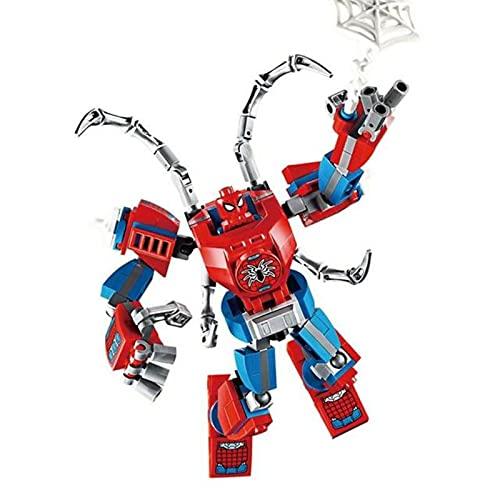 QAZWSXE niños héroe Armadura Robot Bloques de construcción héroes Mecha Hombre Figuras Ladrillos Juguetes
