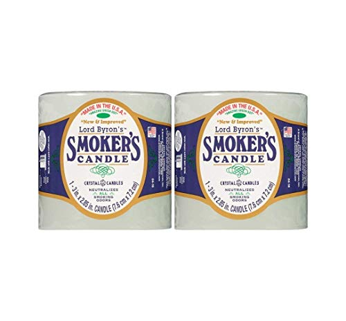 Lord Byron Smoker's Odor Absorbing Candles 2 Pack Bundle