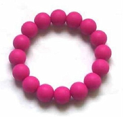 Chuchumz Chewy Bracelet Chewelry Autism ADHD Biting Sensory Child Baby Teething Chew Toy Children Pink