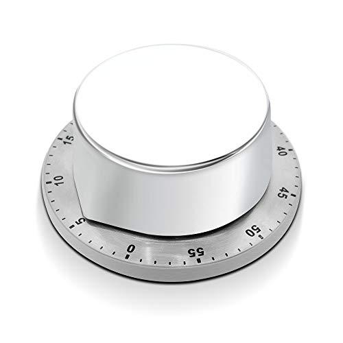 SZSMD Küchentimer Kurzzeitmesser, Küchenwecker aus Edelstahl, Kochuhr Mechanische Timer mit 60 Minute Timing Countdown, Eieruhr/Zeitmesser für Haushalt Küche Kochen Backen Dampfgaren