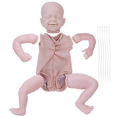 HelloCreate Kit de muñecas recién nacidas de vinilo de silicona suave con tela en blanco piezas de muñeca para muñecas renacidas de 22 pulgadas